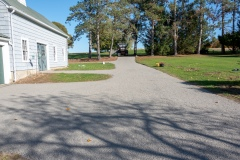 Chip seal driveway in Eastern Connecticut
