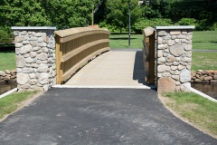 Prior to application of chip seal path at Brewster Gardens park
