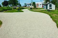 Chip seal path in Brewster Gardens park
