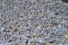 Sample view of white chip stone